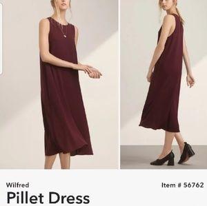 Wilfred Pillet Dress Cabernet xs Sleeveless Shift